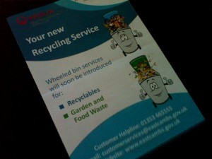 Recycling leaflet